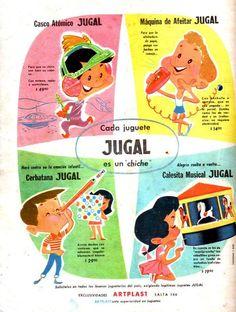 Juguetes JUGAL, 1960.