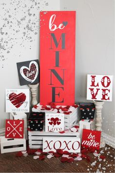 VALENTINES DAY is just around the corner, which means some cold weather, flowers and chocolates! Adding these adorable mini Valentine wood signs to your home decor or your desk at the office is sure to make this holiday a little more special! These Valentine wood decor pieces sit nicely on a shelf, table, or a tiered tray display! Click through to view more styles + options! #valentinesdaysigns #valentinesdaydecor #tieredtraydecor #valentinewooddecor Valentines Day Cakes, Valentine Day Crafts, Around The Corner, Holiday Cookies, Chocolates, Cold Weather, Wood Signs, Shelf, Tray