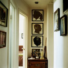 Family photos are nice, but vintage-chic silhouettes lend a unique and even more personalized touch.