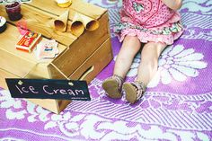 A Styled Ice Cream Photoshoot. Vintage Ice Cream, Ice Cream Photos, Ice Cream Party, 2nd Birthday Parties, Ursula, Children Photography, Picture Ideas, Little Ones, Photo Shoot