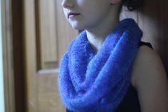 Indigo Knitted Scarf