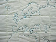 """DIY - WORLD MAP KIT $38.00 Sew your own 42"""" x 32"""" map of the world. (Like I'd ever finish this)"""