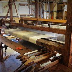 Tweed on the loom. studiodonegal.ie