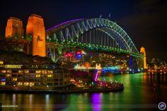 Color popping Harbour Bridge
