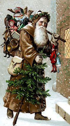 Antique Christmas postcard.