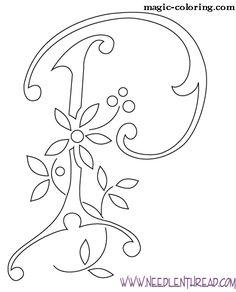 MAGIC-COLORING | Flowered Monograms