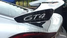 Porsche Cayman Wing End Plate Decal New Porsche, Porsche Cars, Porsche Cayman 981, Boxster Spyder, Car Bonnet, Sports Decals, Cayman S, Porsche Models, Commercial Vehicle