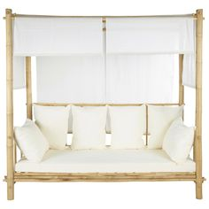 For our terrace Nursery Furniture, Garden Furniture, Banquette, Rooftop Terrace, Sofa Bed, Neutral Colors, Sun Lounger, Decoration, Pergola