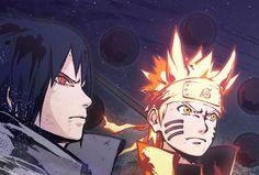 Uchiha Sasuke and Uzumaki Naruto Anime Naruto, Naruto Vs, Naruto Teams, Manga Anime, Wallpapers Naruto, Naruto Wallpaper, Animes Wallpapers, Sarada Uchiha, Naruto Shippuden Sasuke