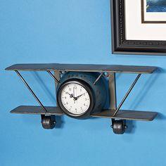 Metal Airplane Wall Clock