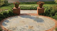Nice And Balancing Stone Flooring Terrace Design With Amazing Circular ...