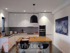 Proiect 39 | Casa parter | Otopeni | Proiecte de case personalizate | Arhitect Gabriel Georgescu & Echipa Design Case, Kitchen Cabinets, House, Furniture, Home Decor, Decoration Home, Home, Room Decor, Cabinets