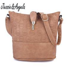 4721bb8f4 Jiessie&Angela New Cross Body Women Bag Leather Handbags Vintage Shoulder  Bags Fashion Messenger Bag Bolsas Femininas