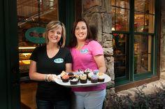 The cupcake girls!  Susan Catron & Nikki Gribble from The Sweet Shoppe, winners of 2013 Cupcake Wars on Food Network.#blueridgega