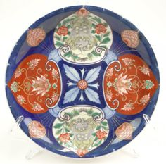 20th Century Chinese Imari Painted Porcelain Plate.