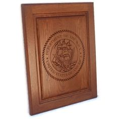 personalized with his name, rank, years served, etc. It was shipped to us in less than a week. Gorgeous, deep etching. Truly a masterpiece. -Carved Wooden Sign, Upcycled Cabinet Door. $49.95, via Etsy.