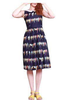 Iris Dress in Navy Budgie