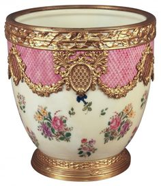 French Sevres Jardiniere Cache Plant Pot.