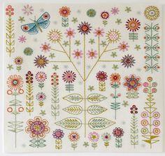 Garden Embroidery Cushion Kit
