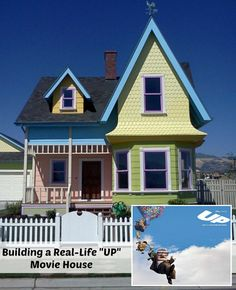 """Aaaaand, someone BUILT the house from Disney's """"Up""""!!  """"A Real Life UP Disney Movie House in Utah."""""""