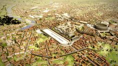 Ancient Rome as imagined - Aerial City View from the East. (Elements of the model © 2008 The Regents of the University of California, © 2011 Université de Caen Basse-Normandie, © 2012 Frischer Consulting. All rights reserved. Image © 2012 Bernard Frischer)