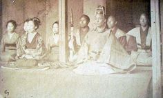 """Samurai from """"Young Japan. Yokohama and Yedo. A Narrative of the Settlement and the City from the Signing of the Treaties in 1858, to the Close of the Year 1879"""" by John Reddie Black (1826-1880), born in Scotland but lived most of his life in China and Japan he published many newspapers and journals, The Far East (1870) is appreciated in particular because it used original photographs. Black was a photographer, he employed both English and Japanese photographers he also published his own…"""