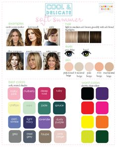 Color Analysis: 3 Degrees of Warm & Rich .im either soft autumn or soft summer? Soft Autumn Color Palette, Soft Summer Palette, Soft Autumn Makeup, Autumn Colours, Soft Summer Makeup, Summer Color Palettes, Rich Colors, Color Me Beautiful, Cool Skin Tone