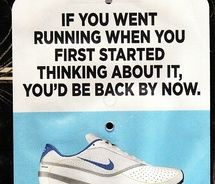 I need to remember this or I will never make my goal of running a half-marathon in May