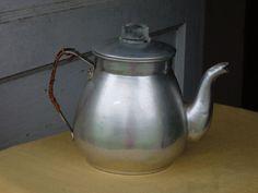 1960s Aluminum Tea Pot by thecrowNcat on Etsy, $7.50