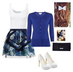 """• Blue-White Mania •"" by maria-radchik on Polyvore"