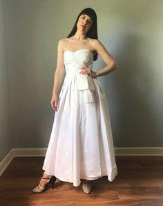 74bd58ab23dd5 vintage 80s Iconic designer VICTOR COSTA wedding dress