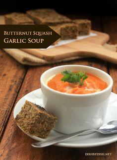 Garlic Butternut Squash Soup | #glutenfree #grainfree #vegetarian
