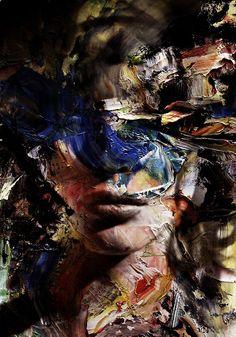 angrywhistler: by AngryWhistler Dark Portrait, Abstract Portrait, Portrait Art, Portraits, Gcse Art, Weird Art, Environmental Art, Dark Art, Decoration