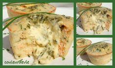 Moelleux au saumon, cœur coulant sauce hollandaise à la ciboulette