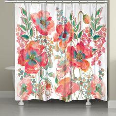 Bohemian Poppies Shower Curtain