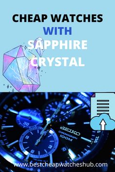 Cheap Watches with Sapphire Crystal are Watches that are affordable, beautiful, and still super-s#tylish.  #cheapwatches #menswatches #luxury #mensfashion  #watches #sapphirewatches #sapphire #swisswatch #classy #unique #collection  #affordable Best Cheap Watches, Amazing Watches, Cool Watches, Watches For Men, Titanium Watches, Seiko Automatic, Seiko Men, Bulova, Sapphire