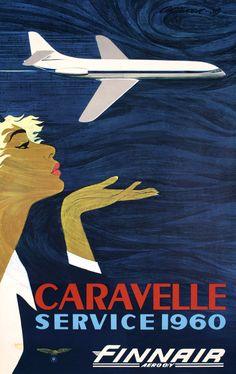 Finnair ~ Caravelle Service, by Juha Anttinen, 1959