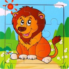 Cute Cartoon Baby Puzzle Wooden Small Piece Kids Toy Wooden Jigsaw Puzzle Educational Toys For Children juguetes educativos Baby Cartoon, Cute Cartoon, Baby Toys, Kids Toys, Animal Puzzle, Cute Lion, Wooden Jigsaw Puzzles, Puzzle Toys, Board Games
