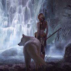 Znalezione obrazy dla zapytania wolves painting