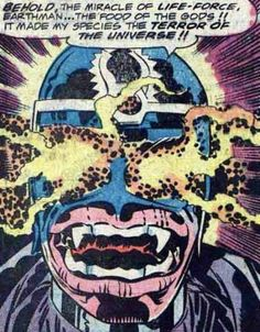 This is Jack Kirby when he started getting too Jack Kirby for this own good.