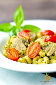 Pesto Cavatappi Pesto Cavatappi Recipe, Homemade Pesto Sauce, Vegetarian Breakfast Recipes, Instant Recipes, Primal Recipes, Pressure Cooker Recipes, One Pot Meals, Pasta Recipes, Dinner Recipes