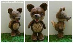 Wolf Amigurumi ~ Free Pattern here: http://www.amigurumitogo.com/2013/12/wolf-free-crochet-pattern.html#more