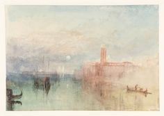 JMW Turner, 'Venice, Moonrise' 1840, from the Grand Canal and Giudecca Sketchbook, watercolor on paper