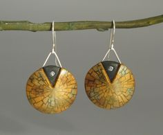 ST-Art-Clay -            Earrings Winter Glamour | Ohrringe nach Helen Breil, passend zum Anhänger.