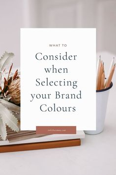 6 Things to Consider when Selecting Brand Colors. How to choose your brand colours and the mistakes creatives make when choosing a brand colour palette. Pick the perfect colors for your brand that attract and connect with your audience and send the right message about your brand. #branding