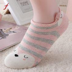 b8351054a Cute Lovely Cartoon Animal Zoo Women Socks Ladies Girls Cotton Warm Soft Sox  2017 Fashion Soft Comfortable Sox Meias Short Socks - ShopShopShip