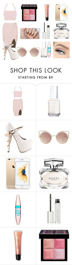 """""""7"""" by clippedkino on Polyvore featuring Essie, ZiGiny, MANGO, Gucci, Maybelline, Givenchy and Bobbi Brown Cosmetics"""