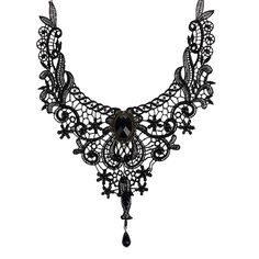 Women Black Lace& Beads Choker Victorian Steampunk Style Gothic Collar Necklace #Unbranded #Chain
