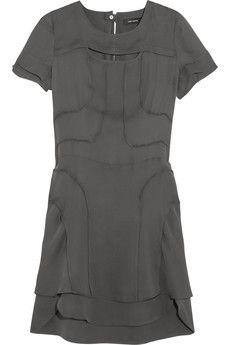 Isabel Marant Madlyn silk-crepe mini dress   NET-A-PORTER