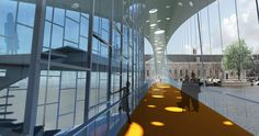 Amsterdam Hermitage Bridge / Bureau SLA + arup. Click on the picture, go to the link and read up. This will be a-mazing...